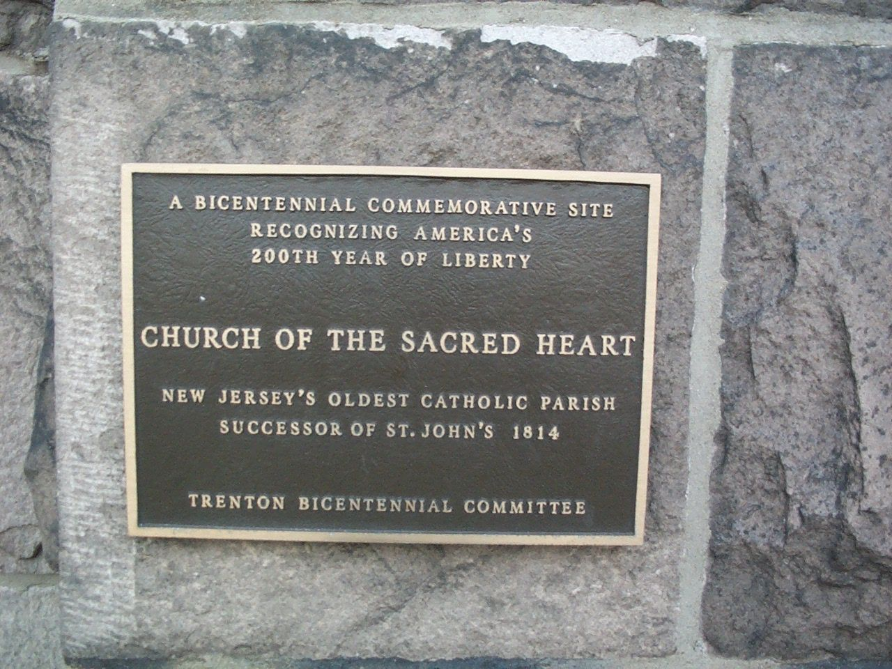 Church of the Sacred Heart Marker