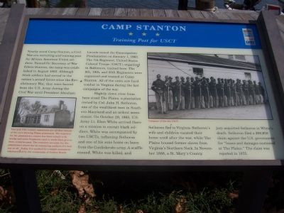 Camp Stanton Marker image. Click for full size.