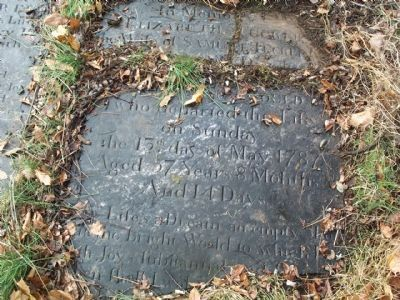 Elizabeth Gould tombstone inside wall enclosure. image. Click for full size.