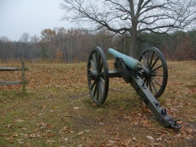 View down one of four cannons on the site. image. Click for full size.