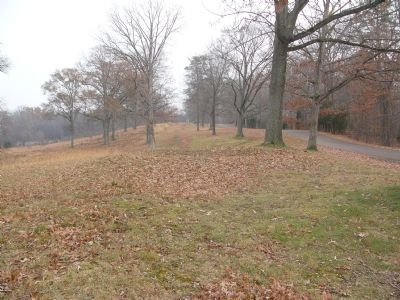 Distant view of the Confederate position, from the nearby Southern Memorial Marker image. Click for full size.
