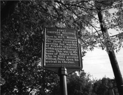 First Friends Meeting Marker image. Click for full size.
