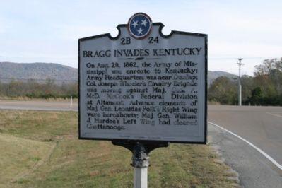 Bragg Invades Kentucky - Back image. Click for full size.