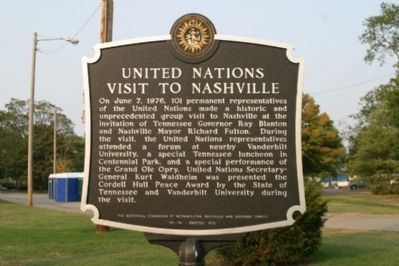United Nations Visit To Nashville - Front image. Click for full size.