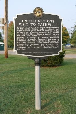 United Nations Visit To Nashville image. Click for full size.