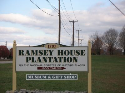 Ramsey House Plantation Sign image. Click for full size.
