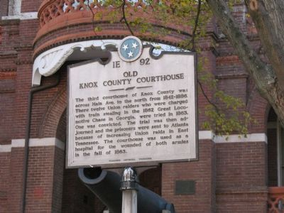 Old Knox County Courthouse Marker image. Click for full size.