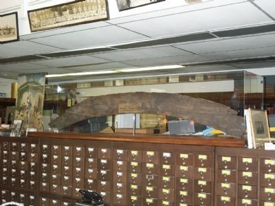 This is the piece of the original arch in the Trentoniana Room of the Trenton Public Library. image. Click for full size.