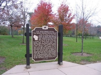 The Wisconsin River Marker image. Click for full size.