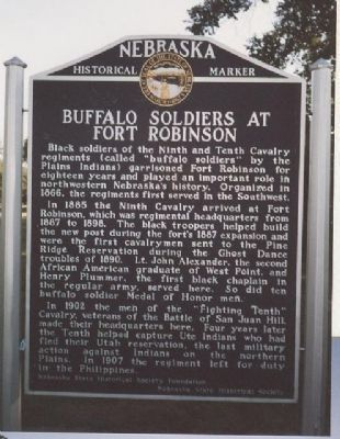Buffalo Soldiers at Fort Robinson Marker image. Click for full size.
