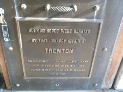 Trenton Battle Monument Marker - (Front Door) image. Click for full size.