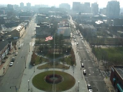 View looking south over the monument park from the observation deck. image. Click for full size.