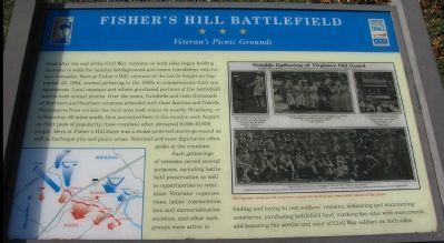 Fisher's Hill Battlefield Marker image. Click for full size.