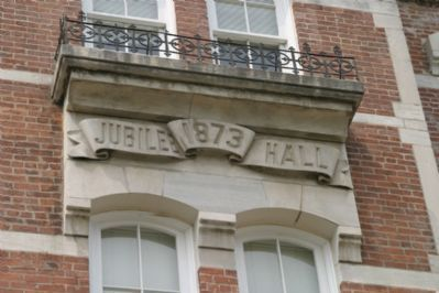 Jubilee Hall - Architectural Detail image. Click for full size.