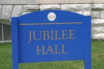 Jubilee Hall - University Signage image. Click for full size.