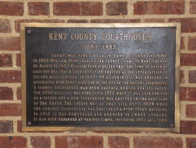 Kent County Courthouses Marker image. Click for full size.