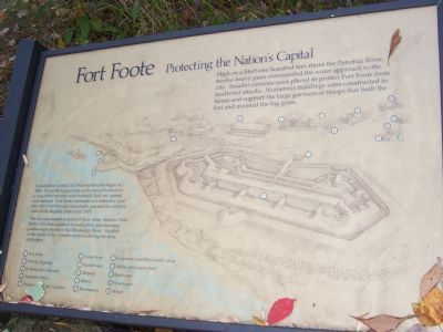 Fort Foote - Protecting the Nation's Capitol marker image. Click for full size.