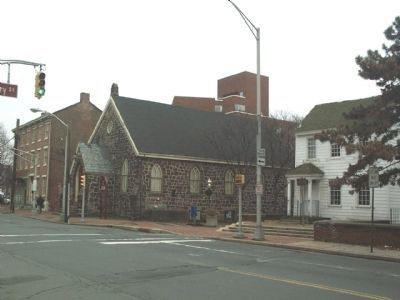 Front Street with the Playhouse on the left and Douglass House on the right. image. Click for full size.