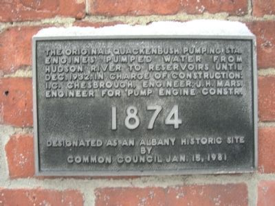 Albany Pump Station Historic Marker image. Click for full size.
