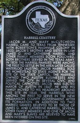 Harrell Cemetery Marker image. Click for full size.