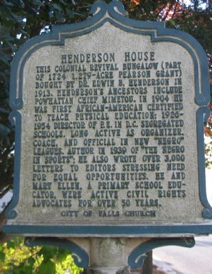 Henderson House Marker image. Click for full size.