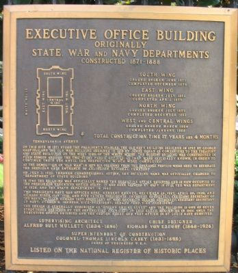 Executive Office Building Marker image. Click for full size.