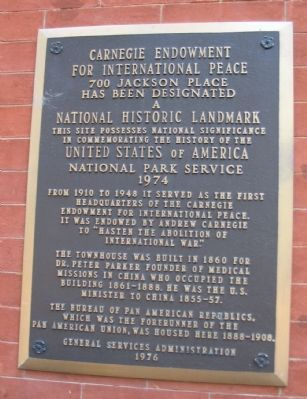 Carnegie Endowment for International Peace Marker image. Click for full size.
