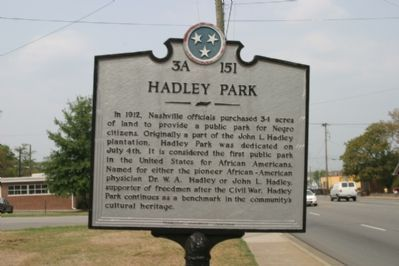 Hadley Park Marker - Front image. Click for full size.