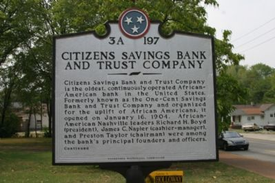 Citizens Savings Bank and Trust Company (Obverse) image. Click for full size.