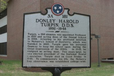 Donley Harold Turpin, D. D. S. Marker image. Click for full size.