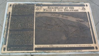 Europeans at the Falls of the Delaware Marker image. Click for full size.