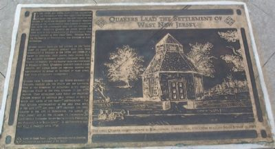 Quakers Lead the Settlement of West Jersey Marker image. Click for full size.