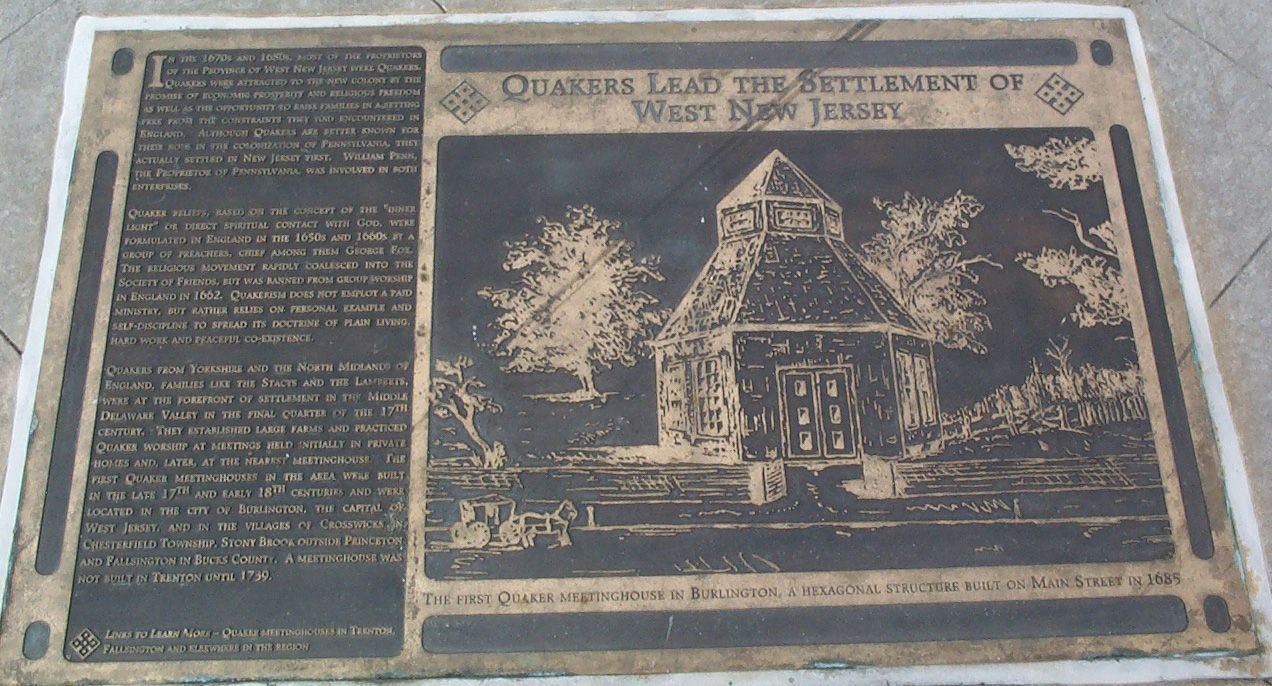 Quakers Lead the Settlement of West Jersey Marker