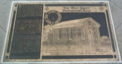 The West Jersey Proprietors Rule Marker image. Click for full size.