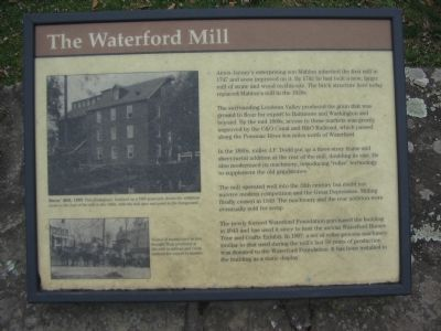 The Waterford Mill Marker image. Click for full size.