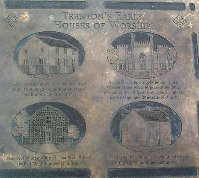 Trenton's Early Houses of Worship Marker image. Click for full size.