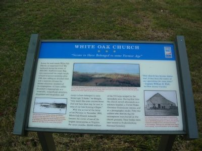 White Oak Church Marker image. Click for full size.