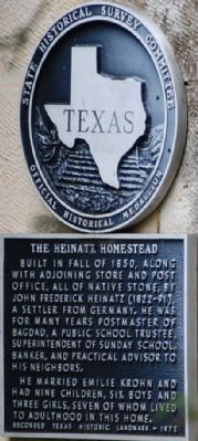 Heinatz Homestead Marker image. Click for full size.