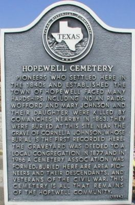 Hopewell Cemetery Marker image. Click for full size.