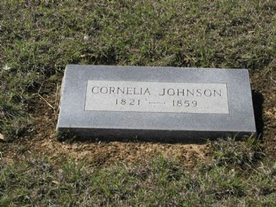 Cornelia Johnson Grave Marker image. Click for full size.