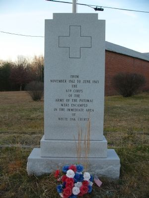 6th Corps Encampment Marker image. Click for full size.