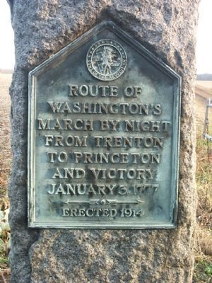 Route of Washington's March Marker image. Click for full size.
