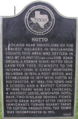 Hutto Marker image. Click for full size.