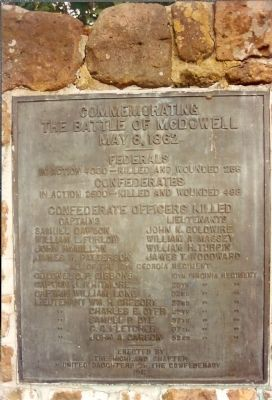 The Battle Of McDowell Monument image. Click for full size.