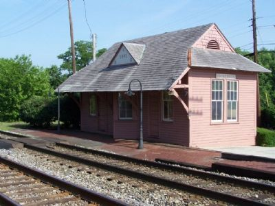 Historic Site ( B&O RR station) Marker image. Click for full size.
