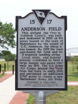 Anderson Field Marker image. Click for full size.