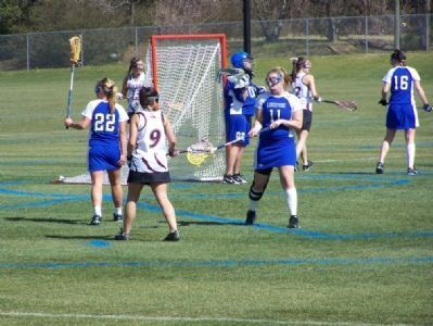 Limestone College Womans Lacrosse Team in action image. Click for full size.