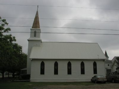 Hutto Evangelical Lutheran Church - Side View image. Click for full size.