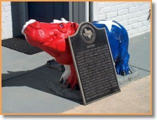 Hutto Hippo and the Marker image. Click for full size.