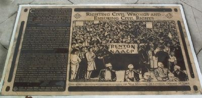 Righting Civil Wrongs and Ensuring Civil Rights Marker image. Click for full size.